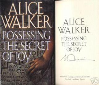 Possessing The Secret of Joy Alice Walker Signed 1st 1st Excellent