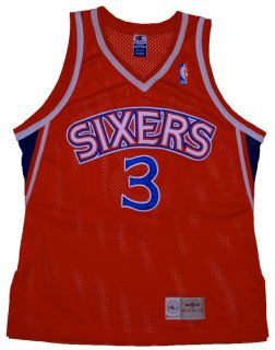 Allen Iverson Rookie Authentic 76ers RARE NBA Jersey 44