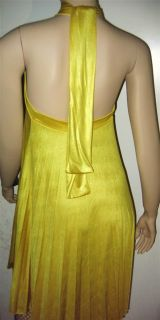 Inspired Halter Yellow Gold Aline Dress Super Sexy All Szs