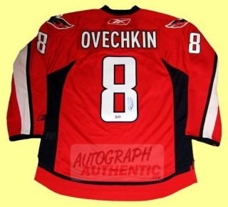 Autographed Alexander Ovechkin Washington Jersey Red