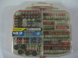 AllTrade 182 Piece Rotary Tool Accessory Set Carbide Carving Sanding