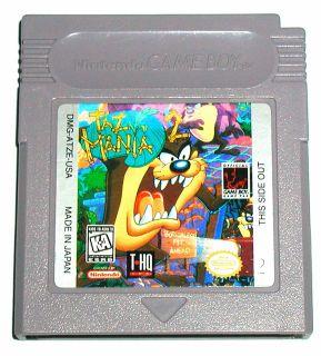 Tazmania 2 Nintendo Game Boy Color Advance SP Cartridge VG