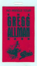 GREGG ALLMAN 1987 NO ANGELS TOUR LAMINATED EPIC BACKSTAGE PASS