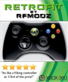 Retrofit Mod Controller All Black Xbox 360 Quickscope Burst Rapid Fire