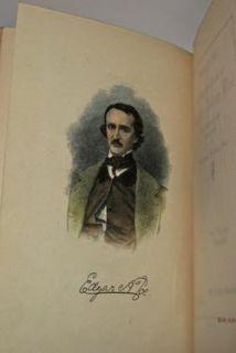 Edgar Allan Poes Works Complete Leather Set Raven