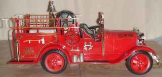 Jim Beam Whiskey Man cave Chicago Fire Department Model A Ford Truck