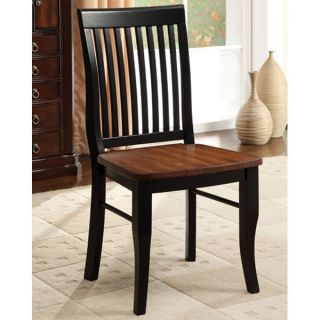 Alta Muta Antique Solid Wood Black Finish Dining Chairs Set of 2
