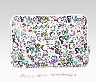 100 Auth Tokidoki x Hello Kitty Limited Edition 15 Laptop Sleeve Soft