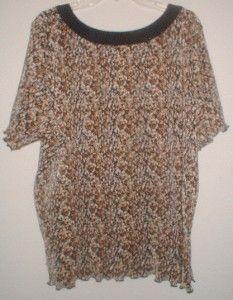 Womens Plus Size Allison Daley Casual Top Shirt Sz 3X