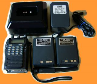 ALINCO DJ 580 TWO BAND HANHELD TRANSCEIVER, ANTENNA, CHARGER