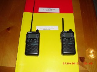 Alinco DJ S11 DJ S41 2 Meter and 440 Radios Pair