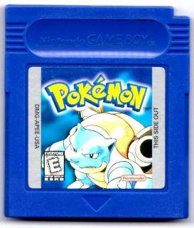 Pokemon Blue Version Nintendo Game Boy Color Advance SP Cartridge VG
