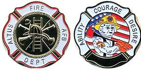 Altus Air Force Base Fire Department Challenge Coin St