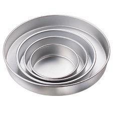 Wilton Aluminum Performance Pans 4 PC Round Cake Baking Pan Set New