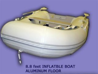 Inflatable Motor Boat Dinghy Fishing Raft with Aluminum Floor