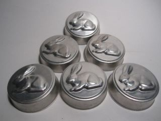 Vintage Mirro Aluminum Jello Dessert Cake Mold Pan Set Lot Star Bunny