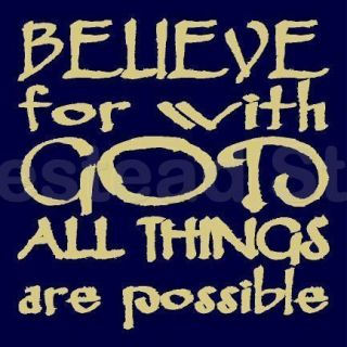Primitive Stencil Believe for with God All Things Are Possible