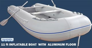 11 INFLATABLE FISHING BOAT DINGHY SPORT RAFT with Aluminum FLoor
