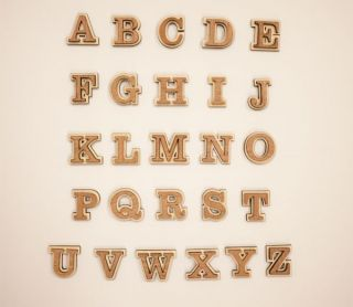 Layered A Z Wooden Letters Wood Letters Alphabet Wood Letters