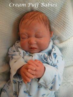 Reborn Newborn Baby Boy Doll Alyssa Ki Angela Kassis