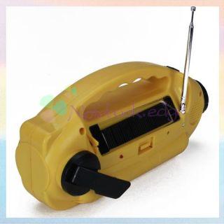 Solar Power Radio Am FM WB Hand Crank Radio Flashlight