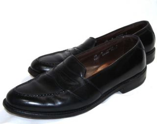 ALLEN EDMONDS Randolph Black Full Strap Penny Slip On Loafers Dress