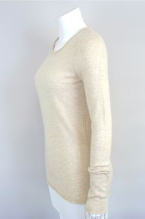 1388 QI at SOCIALITE AUCTIONS Sz S Oatmeal Cashmere Crew Neck Sweater