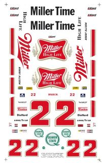 22 Bobby Allison Miller High Life 1/32nd Scale Slot Car Decals