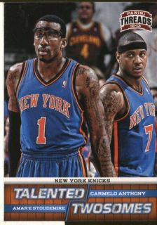 Threads Talented Twosomes 10 Carmelo Anthony AmarE Stoudemire