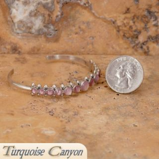 Zuni Native American Pink Shell Cuff Bracelet by Erma Eslalio SKU