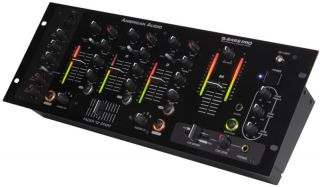 American Audio Q 2422 Pro DJ 3CH Pro 19 Rack Mixer New