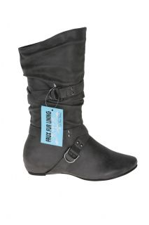 Blossom Amar 17 Womens Casual Low Heel Mid Calf Boots