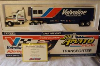 Joe Amato Racing Transporter Semi Truck & Trailer Halvoline Ertl Race