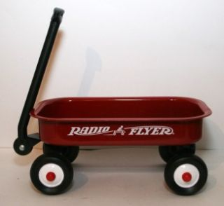 Radio Flyer Small Metal Red Wagon Doll Wagon Excellent 14