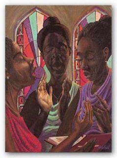African American Art Sweet Gospel Trio John Holyfield