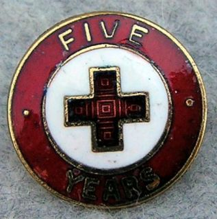 condition, vintage, American Red Cross five year service pin