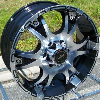 18 Black American Racing Wheels Rims Jeep Wrangler JK 4x4 5LUG Chevy