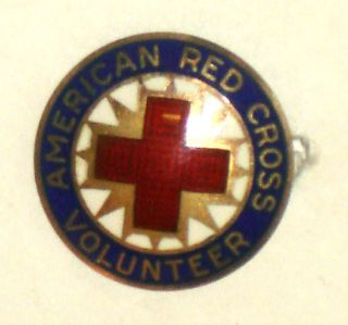 VINTAGE c.1920s AMERICAN RED CROSS Pin STERLING   ADMINISTRATION