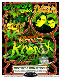 Kings Twiztid Blaze 2012 Portland Concert Tour Poster Rap Rock