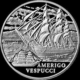 Belarus Coin 1 RBL 2010 Cuni Amerigo Vespucci BU
