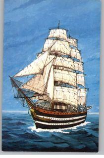 Postcard Amerigo Vespucci SHIP Frank Zaso Painting Art