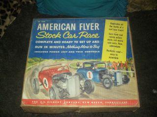 1960s 1 32 Scale Gilbert American Flyer Stock Slot Car Race Set 19060