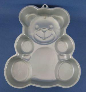 Wilton Teddy Bear Aluminum Cake Baking Pan Mold Vintage