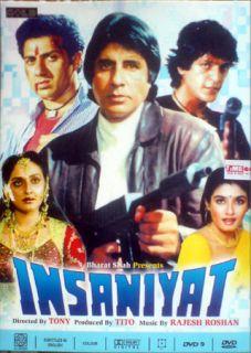 Insaniyat DVD Original Hindi Movie Amitabh Jaya