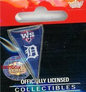 Tigers World Series Pennant Pin AL Champions World Series aminco