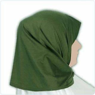 Green Cotton Amira Hijab Veil Scarf Abaya Jilbab Amirah