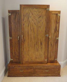 Vintage Oak 8 Gun Rifle Shotgun Cabinet Locks Storage for Ammo