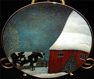 American Folk Art Collection Barnyard Christmas Lowell Herrero Cow