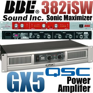 QSC GX5 Power Amplifier Amp BBE 382i SW Sonic Maximizer w/ Subwoofer