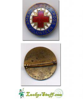 American Red Cross Volunteer Pin Pinback Early 1900S